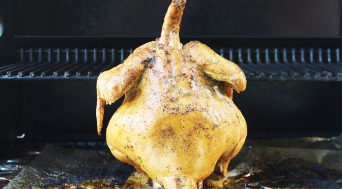 recipe: grilled beer can chicken.